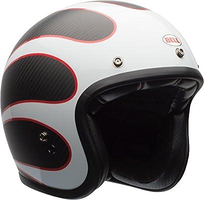 Bell Custom 500 Carbon Ace Cafe Tonup Open Face Helmet Black//White XL