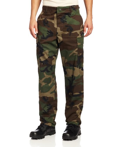 Pants Camo Mens Medium - Propper BDU Trouser , Woodland, Medium Regular