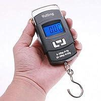 SAYSHA 50 kg Hook Type Digital Weighing Scale Portable (Standard Size, Black)