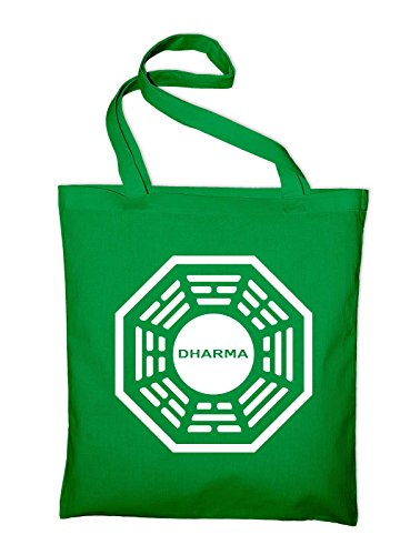 Bag Lost Dharma Cotton Bag Initiative Styletex23baglostdharma7 Logo Jute Yellow In Green Tasche And Fabric yellow X1THq