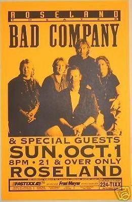 Bad Company Rare 1995 Portland Concert Tour ()