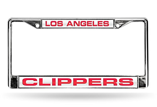 Rico NBA Los Angeles Clippers Laser Cut Inlaid Standard Chrome License Plate Frame, ()