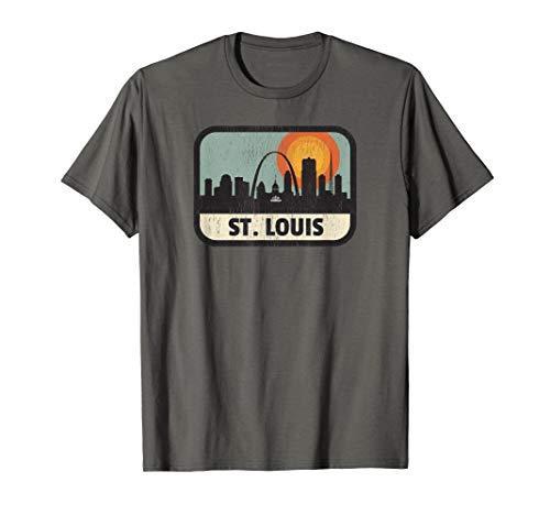 Vintage St. Louis Missouri Downtown Skyline Retro 70s Shirt