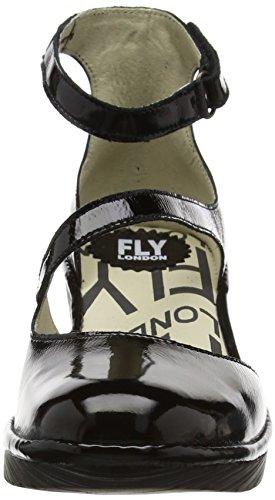 Alla Donna Scarpe 009 con London Cinturino Plan717fly Caviglia Nero Fly Black qwU4Xx0q
