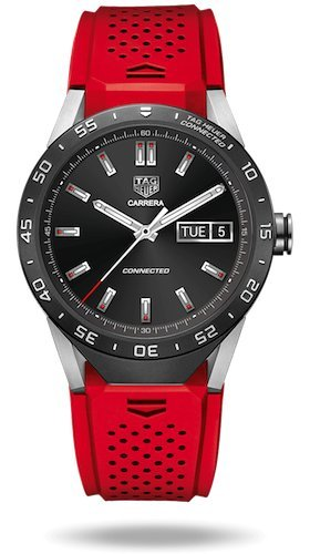 40aab609d4b Amazon.com  TAG Heuer CONNECTED Luxury Smart Watch (Compatible with  Android iPhone) (Black)  Cell Phones   Accessories
