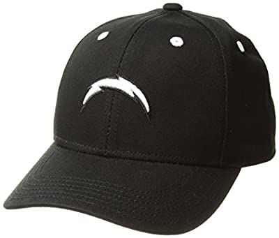 NFL Youth Boys Black and White Structured Adjustable Hat from Outerstuff Licensed Youth Apparel