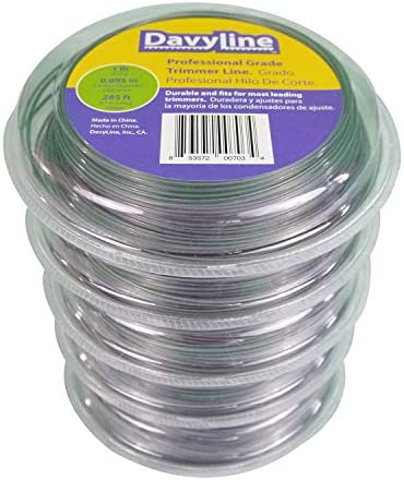 5-Lb of DavyLine Heavy Duty Dual Color Trimmer Line .095 in Diameter in 5 Donuts of 1-Lb 285 Ft Each (Total: 1425 Ft) Round Shaped Nylon Lawn Weed Eater String – The Super Cheap
