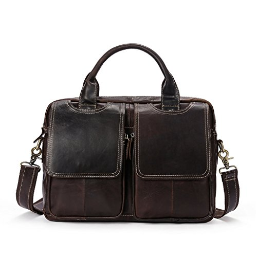 Large Briefcases Shoulder Bags Sucastle Design 9 Leather Messenger Men's Vintage Capacity 10 w8Cxq71