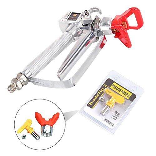 Airless Paint Spray Gun with 517 tip Swivel Joint for Graco Wagner Titan Pump Sprayer 3600PSI High Pressure Spray Gun