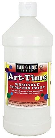 Sargent Art 17-3596 - 32 Oz White Art-Time Washable Tempera Paint (White Paint Tempera)