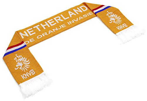 High End Hats Official Nations of Europe Scarf Collection Double Weave Head Scarf for Men or Women, Netherlands with Coat of Arms, Orange