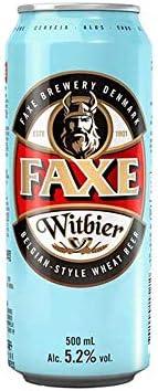Cerveja Faxe, Witbier, Lata, 500ml 1un