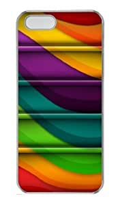Colorful Bookshelf PC Case Cover for iPhone 5 and iPhone 5s ¡§C Transparent