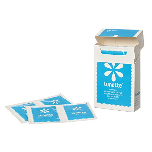 Lunette Cup Wipes (Portable - Compostable -