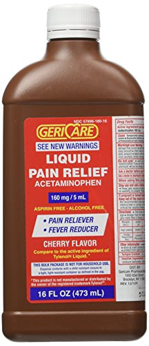 16 Oz bottle Acetaminophen Cherry Flavored Liquid