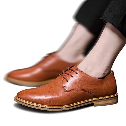 Brown cuero Botas de de Hombres Oxford clásicas Odema wxT08p8