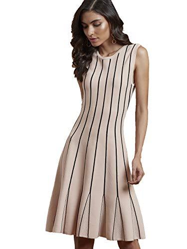 Label RITU KUMAR Round Neck Sleeveless Short Dress