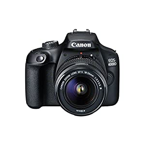 Canon EOS 4000D DSLR Camera and EF-S 18-55 mm f/3.5-5.6 III Lens – Black