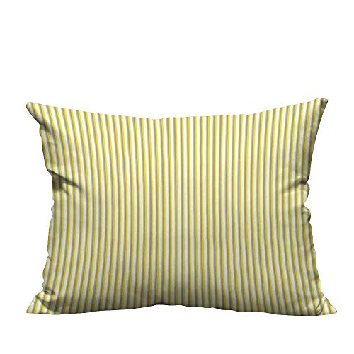 Slumber Circus Bag - YouXianHome Lovely Cushion Covers Yellow Circus Tent Inspired Vintage Retro Stripes Modern Image Light Yellow Beige and Resists Stains(Double-Sided Printing) 13.5x19 inch