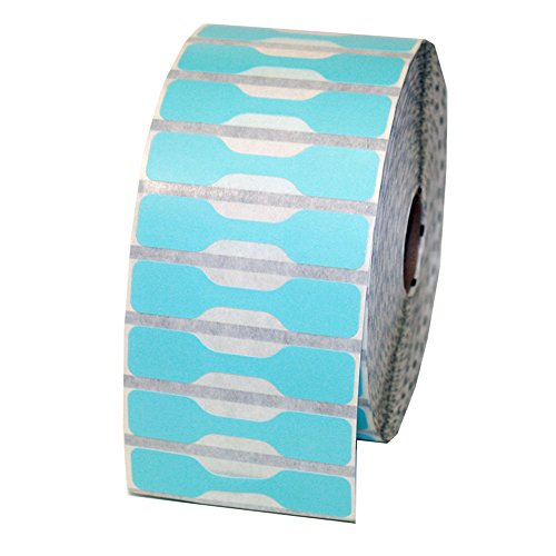 - Zebra Printer Compatible 10010064 Blue Jewelry Labels - Barbell Style - 3510 Labels Per Roll