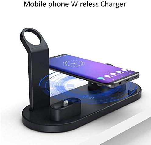 Draadloze oplader, draadloos oplaadstation, snel draadloos oplaadstation 3-in-1 oplaadstation voor Airpods Pro 2 1 Iwatch-serie 5 Iphone Samsung All QI mobiele telefoon