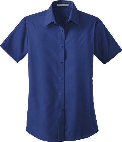 Valor de la autoridad portuaria Mujer Popelina Camisa azul (Mediterranean Blue)