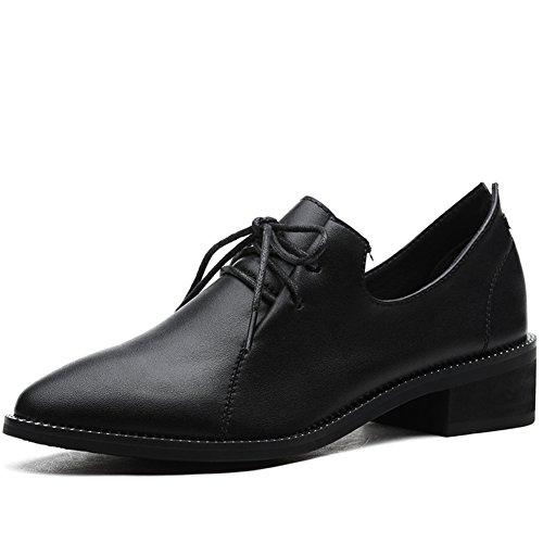 moda gruesa señora/Academia británica viento puntiagudos zapatos/Zapatos de primavera A