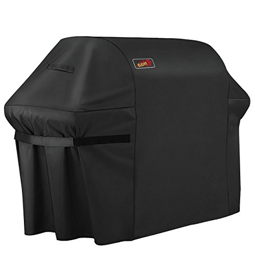 VicTsing 5+ Burner Gas Grill Cover, Heavy Duty Fits Most Brands of Grill-Large 72 inch BBQ Waterproof Durable Cover + Storage Bag (UV & Dust & Water Resistant, Weather & Rip Resistant) ()