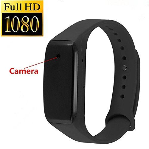 Hidden Camera -1080P HD Mini Camera Smart Bracelet Camera With Audio Video Recorder Camcorder (Watch Video Recorder)