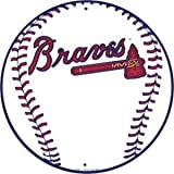 Atlanta Braves 12 inch Baseball Style Metal Circle Sign