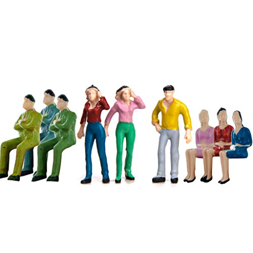- Approx.50pcs Hand Painted Model Train People Figures 0.98-1.58 inch