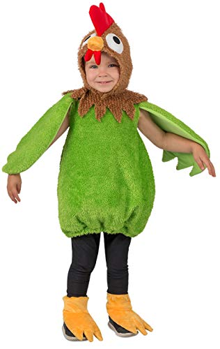 Princess Paradise Kid's Green Rooster Childrens Costume, as Shown, 18 Month