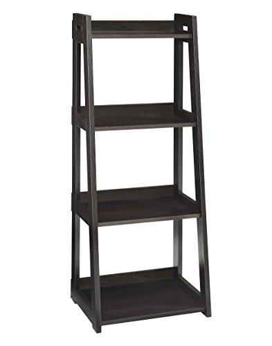 ClosetMaid 3311 No-Tool Assembly Ladder Shelf, Narrow 4-Tier, Black Walnut ()