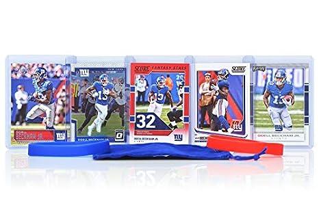 08115008bf001 Odell Beckham Jr. (5) Assorted Football Cards Bundle - New York Giants  Trading Cards