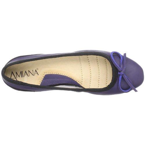 Amiana Womens 15-a5001 Balletto Piatto Viola
