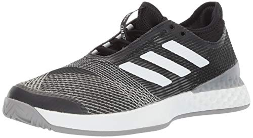 adidas Mens Adizero Ubersonic 3, Black/White/Light Granite, 9 M US