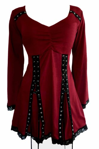 Dare-To-Wear-Gothic-Victorian-Boho-Womens-Plus-Size-Electra-Corset-Top