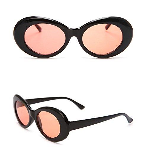 Mode Black Red UV400 Lunettes Vintage Homme Lunettes Femme amp;transparent Nuances Width Eyewear de 2cm de nbsp;Sports amp;Gray Lamdoo 80