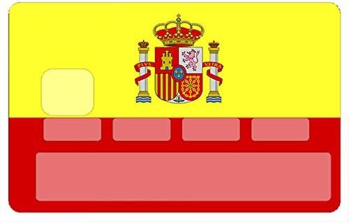 Deco 79 Bandera española, Sticker, Pegatinas para Tarjetas de ...