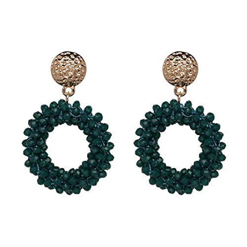 (Bohemian Drop Earrings Handmade Crystal Beaded Flower Dangle Earrings For Women Jewelry, Ideal Gifts For Mom,Sisters And Friends)