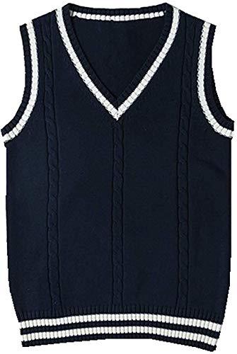 Vrouwen Mouwloos Tank Vesten Gebreide Truien Gilets Truien Cosplay Kostuum Klassieke School Leuke V-hals School Uniform…