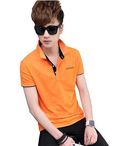 FEVON tシャツ メンズ 半袖 Tシャツ 夏 ポロシャツ トップス カットソー 重ね着 スリム POLOシャツ 無地 純色 シンプル バイカラー おしゃれ カジュアル スポーツウェア ゴルフウェア スタイリッシュ 大きいサイズ 全15色