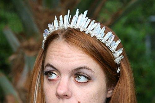 Kyanite Kaia Crown, raw crystal crown, kyanite crystal crown, quartz crystal crown by Heather Feather's Design