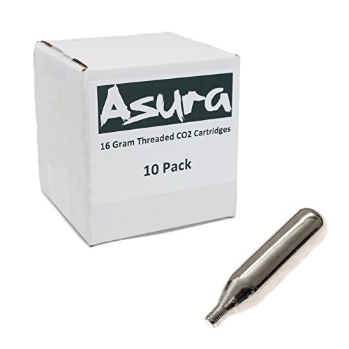 Asura 16 Gram CO2 Threaded Cartridges 10 Count