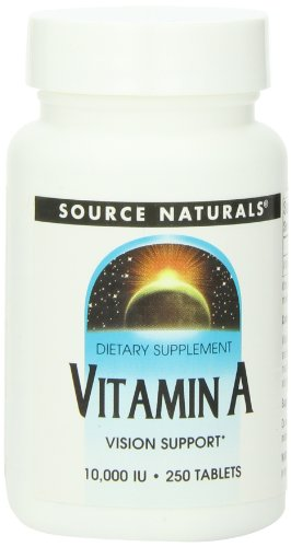 Source Naturals Vitamin A Palmitate 10000 IU 250 Tablets