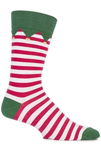 SockShop Men's 1 Pair Christmas Dare to Wear Santa's Elf Socks