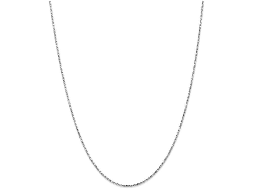 Finejewelers 20 Inch 10k White Gold 1.5mm Machine Made bright-cut Rope Chain Necklace