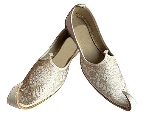Stap N Stijl Indiase Mannen Schoenen Handgemaakte Aladdin Khussa Lederen Juti Slippers Pantoffel