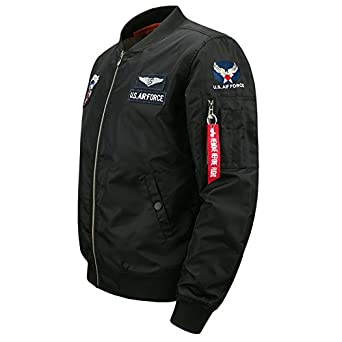 Asstseries MA1 Bomber Jacket Men Military Windbreaker Army Tactical Jacket Men Mens Air Force One Varsity Flight Jackets.DA38 at Amazon Mens Clothing store ...
