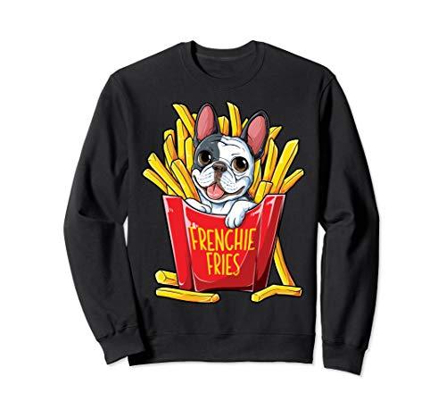 Frenchie Fries French Bulldog Sweatshirt Men Women Funny - Bulldog Sweatshirt Adult French
